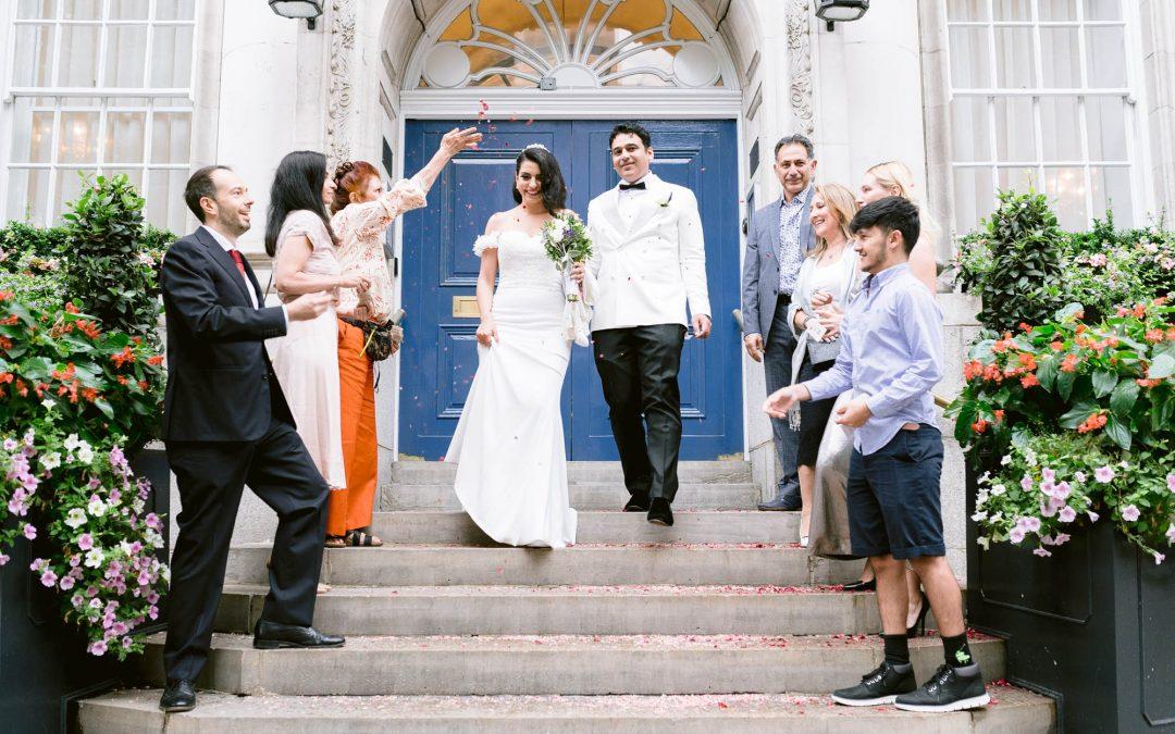 Chelsea Registry Office Intimate Wedding