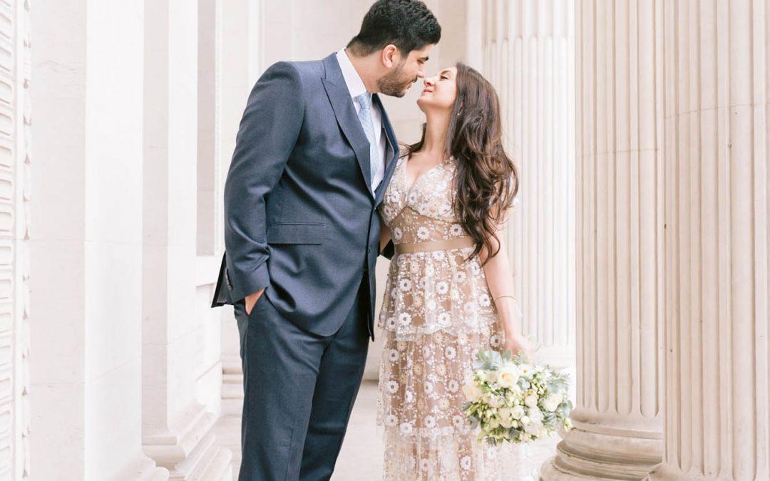 Romantic Wedding Ceremony at The wonderful Old Marylebone Town Hall